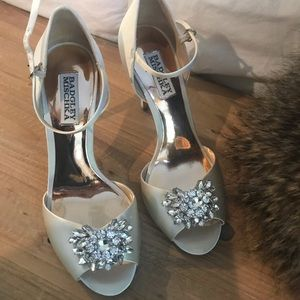 Badgley Mischka Bridal Heels - Ivory 7.5